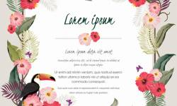 Autumn invitation card template with flower vector 12 welovesolo stopboris Images